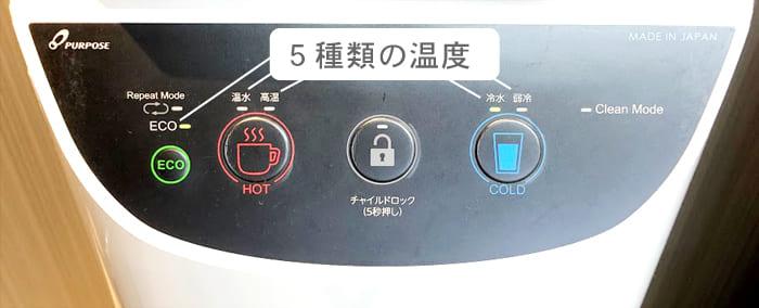 富士の湧水の水の温度
