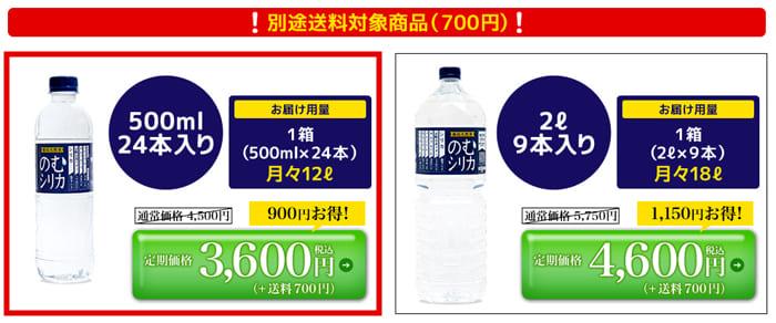 飲むシリカの3600円コース