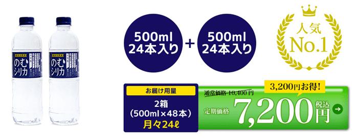 飲むシリカの7200円コース